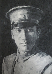 Chiang Kai-Shek, 34 x30 cm, Knete, small