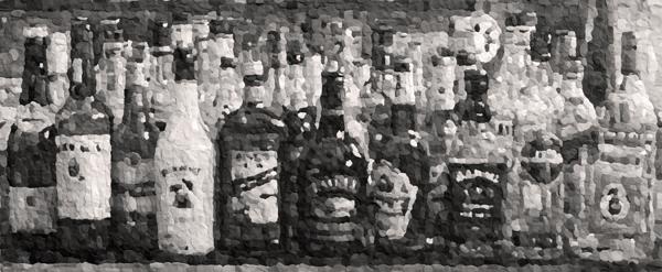 henrikjacob_bottles homebar-2011-38x90cm-knete